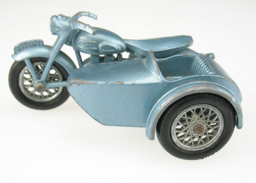 matchbox no 4 triumph t 110 motorcycle sidecar motorrad beiwagen lesney ebay. Black Bedroom Furniture Sets. Home Design Ideas