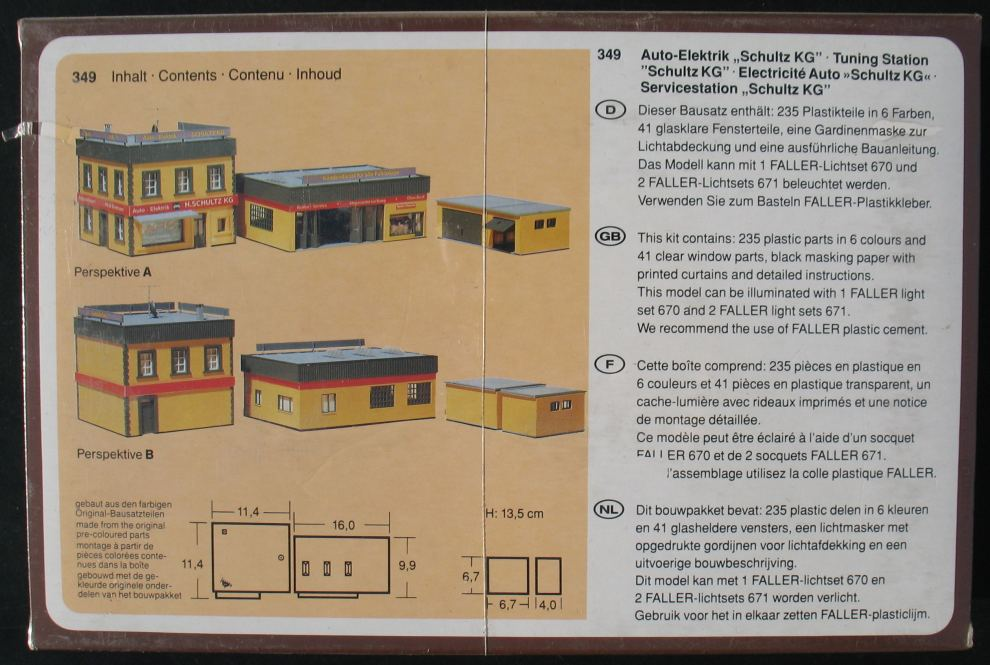 FALLER 349 - Werkstatt Auto-Elektrik - H0 - Eisenbahn Modellbausatz ...