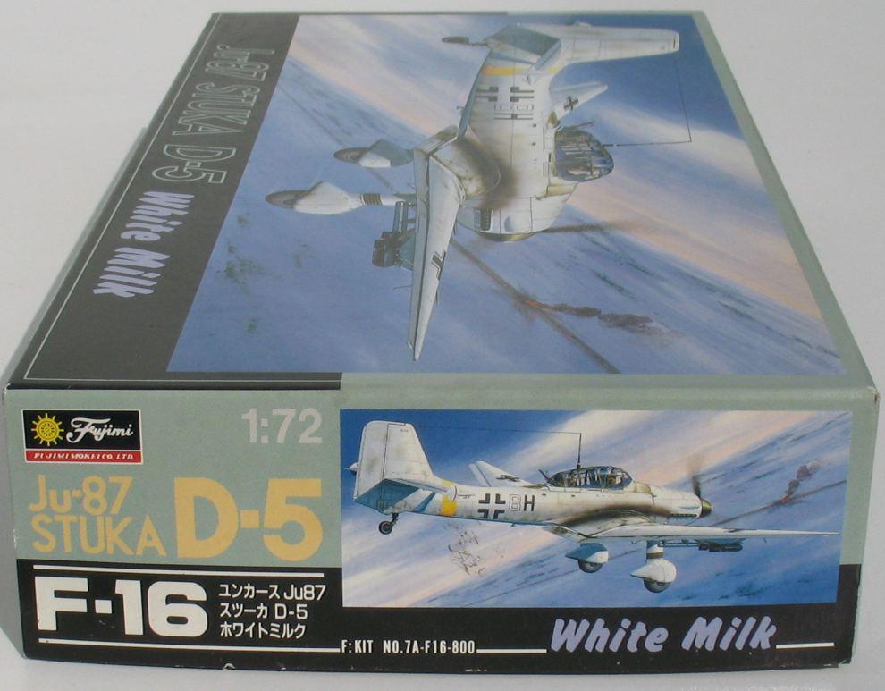 Ju-87 STUKA D-5 White Milk KIT 1:72 Flugzeug Bausatz FUJIMI 7A-F16-800
