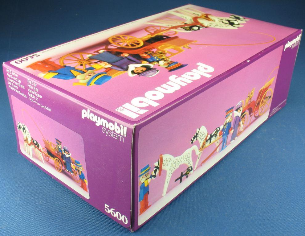 Playmobil 5600 kalesche kutsche 1989 nostalgie rosa serie neu misb ebay - Playmobil kutsche ...